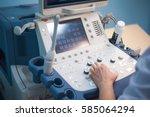 "ultrasound machine doctor""s...   Shutterstock . vector #585064294"