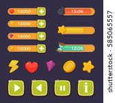 cartoon game ui design   vector ...