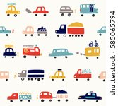 seamless pattern with cute... | Shutterstock .eps vector #585065794