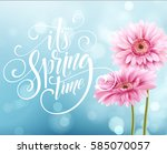 gerbera flower background and... | Shutterstock .eps vector #585070057