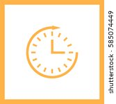 clock icon. | Shutterstock .eps vector #585074449