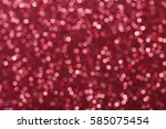 red glittering christmas lights.... | Shutterstock . vector #585075454