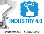 industry 4.0 robot arm blueicon | Shutterstock . vector #585090349