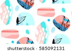 hand made vector abstract... | Shutterstock .eps vector #585092131