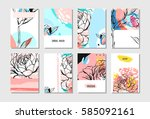 hand drawn vector abstract... | Shutterstock .eps vector #585092161