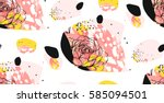 hand made vector abstract... | Shutterstock .eps vector #585094501