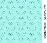 seamless pattern with easter...   Shutterstock .eps vector #585097699