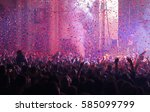 audience and confetti at a live ...   Shutterstock . vector #585099799