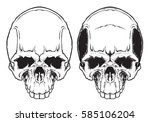 human evil skull vector.    Shutterstock .eps vector #585106204