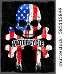 skull t shirt graphic design...   Shutterstock .eps vector #585112849