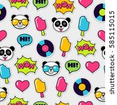 trendy seamless pattern with... | Shutterstock .eps vector #585115015