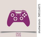 illustration of flat game pad... | Shutterstock .eps vector #585116071