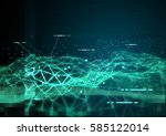 global data and 3d... | Shutterstock . vector #585122014