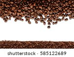 coffee beans. isolated on a... | Shutterstock . vector #585122689