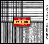 vector seamless patterns set.... | Shutterstock .eps vector #585126079