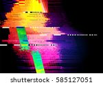 glitch and distorted texture... | Shutterstock .eps vector #585127051