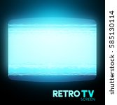 a retro tv screen with static.... | Shutterstock .eps vector #585130114