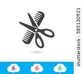 barber vector icon   Shutterstock .eps vector #585130921