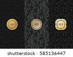 vector set of design elements ... | Shutterstock .eps vector #585136447