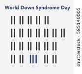 world down syndrome day. flat... | Shutterstock .eps vector #585140005