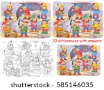 snow white and the seven dwarfs.... | Shutterstock . vector #585146035