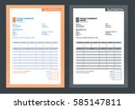 vector quotation design... | Shutterstock .eps vector #585147811
