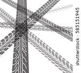 tire tracks. vector... | Shutterstock .eps vector #585151945