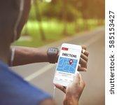 gps map directions navigation... | Shutterstock . vector #585153427