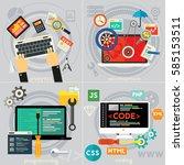 programming  development ... | Shutterstock .eps vector #585153511