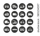 transportation icon set in... | Shutterstock .eps vector #585154597