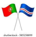 portuguese and cabo verdean... | Shutterstock .eps vector #585158899