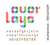 color font. vector alphabet... | Shutterstock .eps vector #585165109