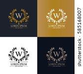 calligraphic design elements...   Shutterstock .eps vector #585168007