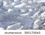 Footprints In The Melted Ice