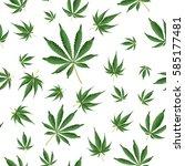 cannabis background. marijuana... | Shutterstock .eps vector #585177481