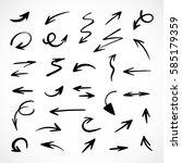 hand drawn arrows  vector set   Shutterstock .eps vector #585179359