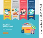 business infographic | Shutterstock .eps vector #585179641