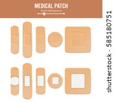 medical patch vector. two sides.... | Shutterstock .eps vector #585180751