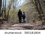 adampol nature park walking... | Shutterstock . vector #585181804