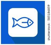 fish vector icon  sea animal... | Shutterstock .eps vector #585186859