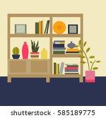 vector illustration. interior... | Shutterstock .eps vector #585189775