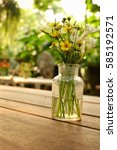 Flowers Jar On The Table Blur...