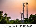 telecommunication tower  ...   Shutterstock . vector #585192685