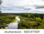 panorama of the natural... | Shutterstock . vector #585197509