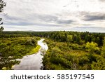 panorama of the natural... | Shutterstock . vector #585197545