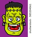 Cartoon Smiling Frankenstein...