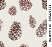 pattern of the fir cones | Shutterstock .eps vector #585208531