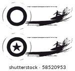 surfer star grunge sea banner | Shutterstock .eps vector #58520953