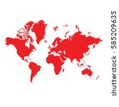 continents high red | Shutterstock .eps vector #585209635