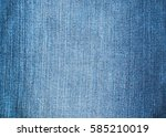 blue jeans and stitches texture.... | Shutterstock . vector #585210019